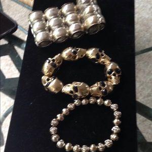 Lot of 3 funky bracelets